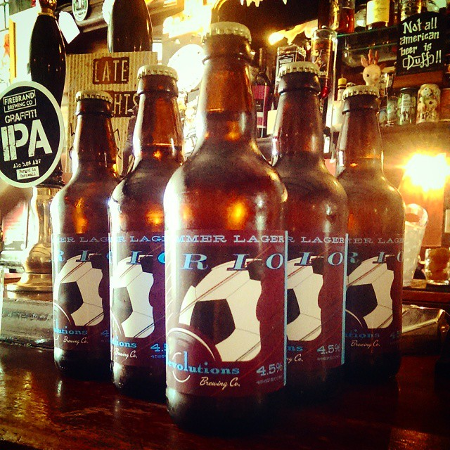Rio Summer Lager - perfect for a hot summer's day like today! 5 x 500ml bottles for £20 WHILE STOCKS LAST! #lager #summer #oldredlion #craftlager #realale #revolutions #riosummerlager #happy #thirsty #publondon #beergarden #beer #sunshine