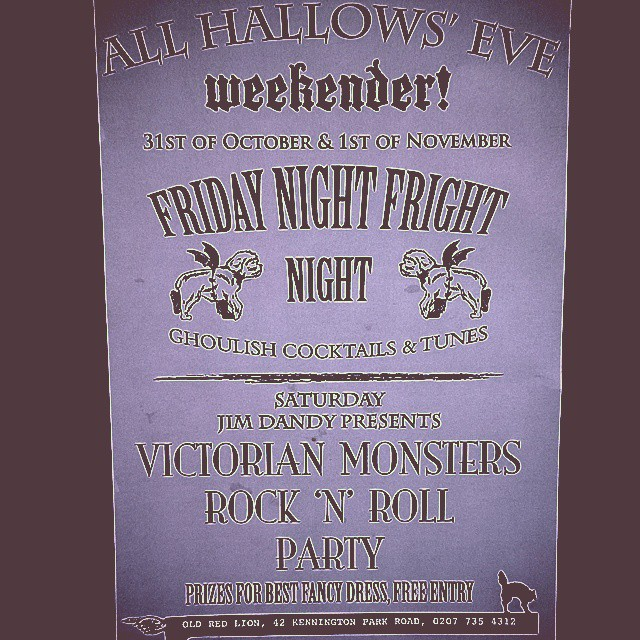This weekend...#halloween #allhallowseve #scary #fancydress #halloween #freeentry #realale #pub #dancing #cocktails #victorianmonsters #monsters #victorianfancydress #halloweeninlondon #fridaynightfrightnight